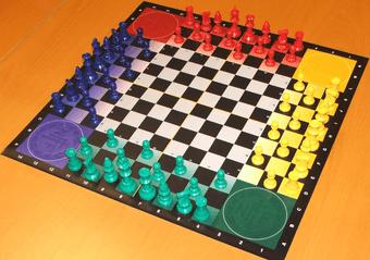 Bilde av sjakkbrett for 2 til 4 personer